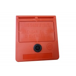 Notschlüssel-Box (Text auf Katalanisch)