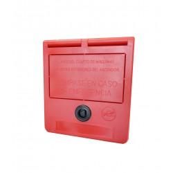 Notschlüssel-Box (Text in Spanisch)