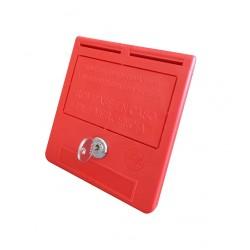 Notschlüssel-Box mit Schlüssel (Text in Spanisch)
